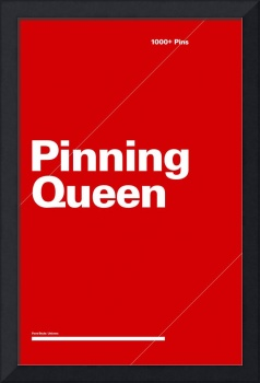 Pinning Queen typographic poster - Red and White