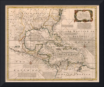 Map of the West Indies by Emanuel Bowen (1720)
