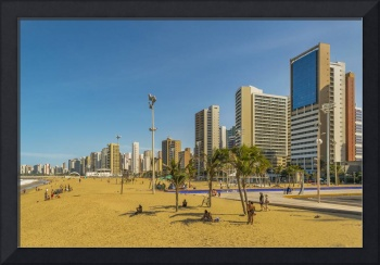 Beach and Buildings of Fortaleza Brazil
