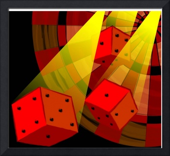 Digital painting of three dices
