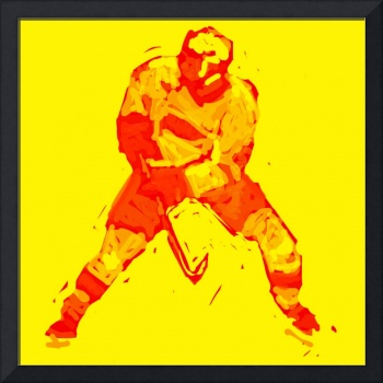 Hockey Defenseman yellow red (c)