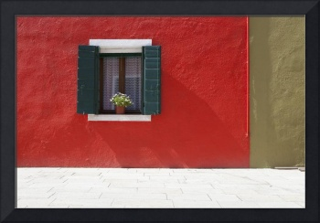 A Flower Pot Sits In A Window With Shutters Open I