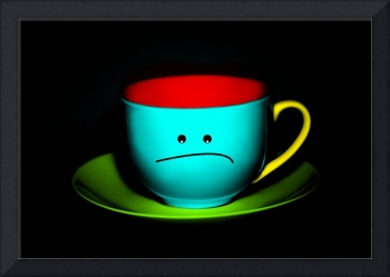 Funny Wall Art - Peeved Colourful Teacup