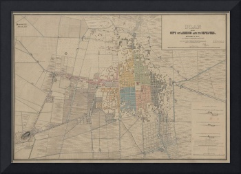 Vintage Map of Mexico City (1847)