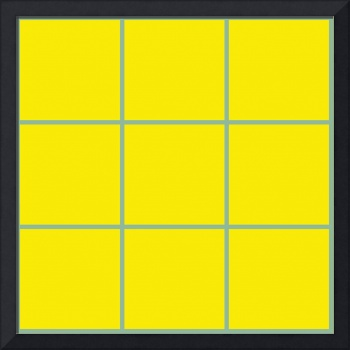 Yellow Window 095 Canvas Contemporary Modern
