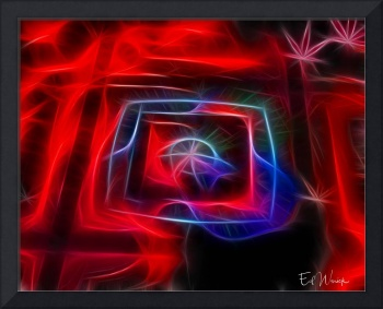 Exhausting the Red Abstract art print