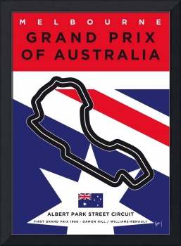 My F1 MELBOURNE Race Track Minimal Poster