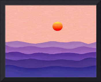 Abstract Decorative Misty Salmon Sunrise 3