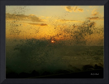 Wave Splash - Sunset Through Wave Splash