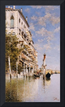 Along the Grand Canal (oil on canvas)