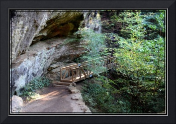 Hocking Hills Ohio bridge