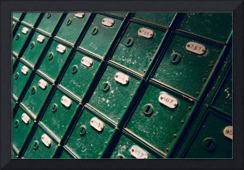Vintage mail boxes