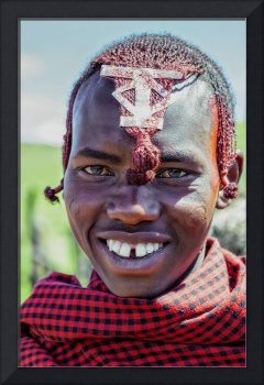 Portrait young African Maasai 4220