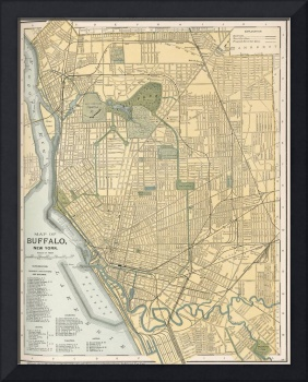 Vintage Map of Buffalo New York (1891)
