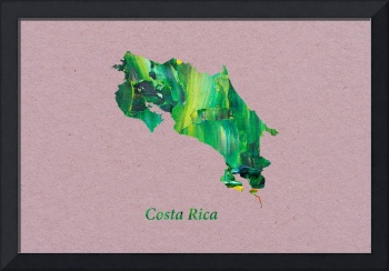 Artistic Map of Costa Rica