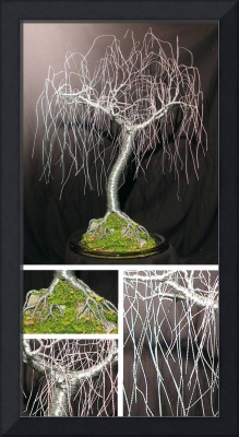 GENTLE WILLOW  -Wire Tree Sculpture