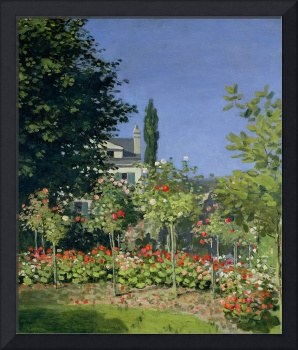 Flowering Garden at Sainte-Adresse, c.1866 (oil on