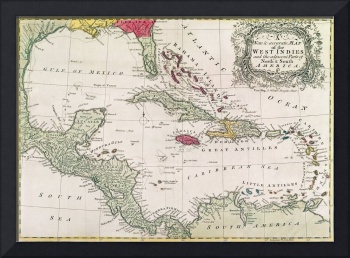 New and accurate map of the West Indies