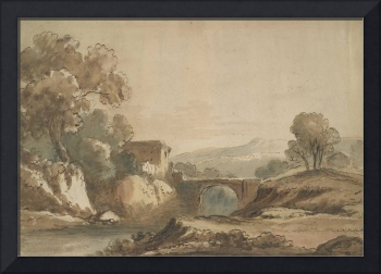 Landscape with bridge, by James Robertson