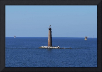 Sand Island Light (with Oil Rigs)