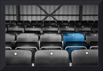 Blue Seat in the Football Stand