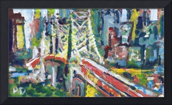 New York Ed Koch - Queensboro Bridge Abstract