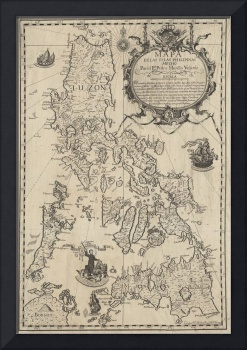 Vintage Map of The Philippines (1744)