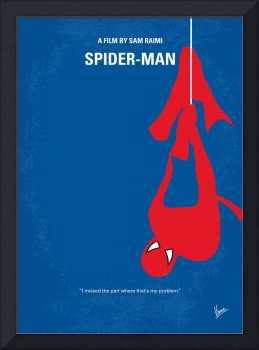 No201 My Spiderman minimal movie poster