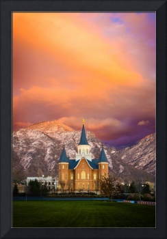 Provo City Center Temple - Colored Sky