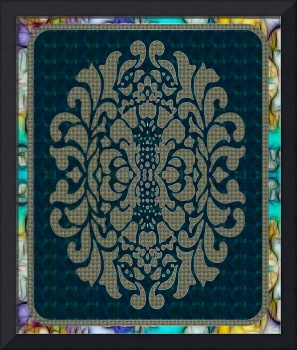 Arabic Folk Damask Art Motif