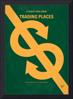 No377 My Trading Places minimal movie poster