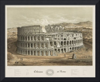 Vintage Illustration of The Roman Colosseum (1872)
