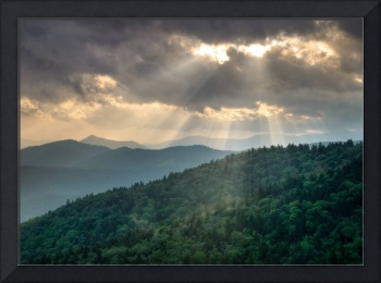 And There Was Light - Blue Ridge Parkway Sunbeams