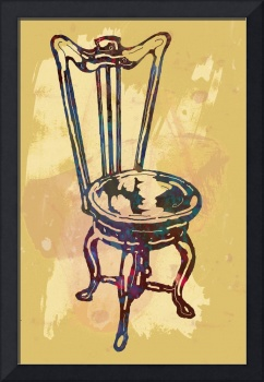 Classical chair stylized pop art poster