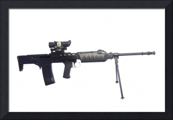Prototype British 4.56mm light support weapon LSW