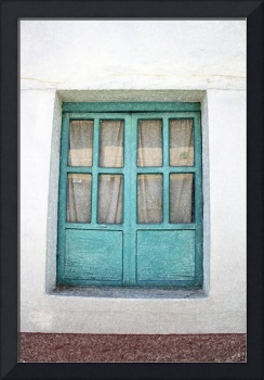 Green Painted Window