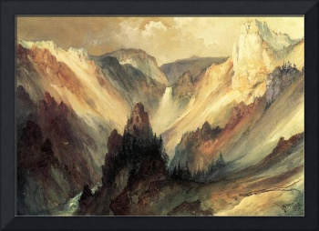 The Grand Canyon of Yellowstone (1895) by Moran