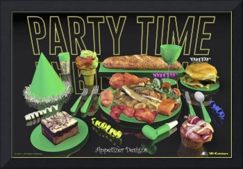 Party Time Neon Green - Appetizer Designs