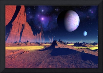 Stellar vista - space art landscape