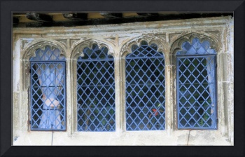 Windows in medieval manor house