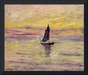 The Sailing Boat, Evening Effect, 1885 (oil on can