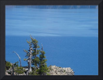 Crater Lake Art Prints Oregon Blue Lake Water Pine