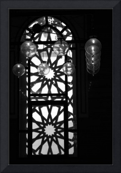 Bahrain Mosque Window Lamp Balls Aligned