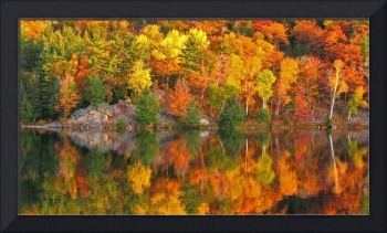 Autumn at George Lake, Ontario, Canada