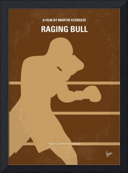 No174 My Raging Bull minimal movie poster