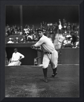 Lou Gehrig warming up hitting