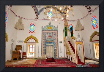 Whitewashed Mosque Interior
