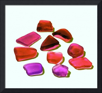 Red & Purple Beach Glass Pieces