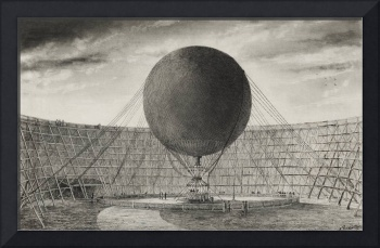 Mr. Henri Giffard's Steam Balloon by Tissandier