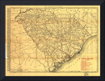 Map of South Carolina Railroads (1900)